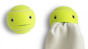 upcycled tennis balls